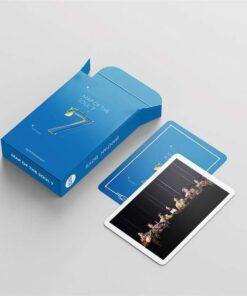 Jeu de cartes du groupe BTS (54 pièces) Bleu clair 2