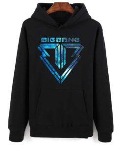Sweatshirt coréen BigBang Bleu et Noir