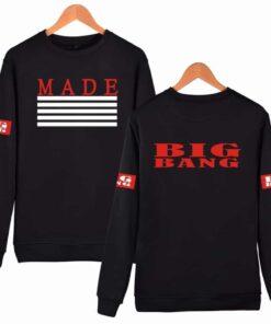 Sweatshirt coréen BigBang Made Noir