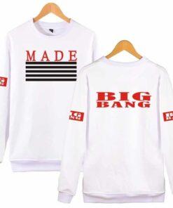 Sweatshirt coréen BigBang Made blanc