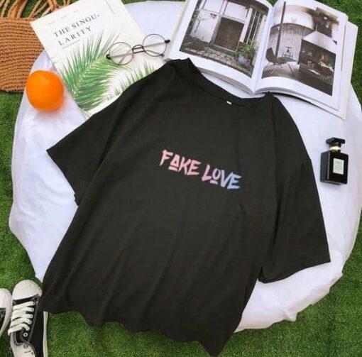 T Shirt BTS coréen Fake Love Kpop