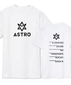 t shirt coréen astro original blanc