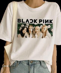 T-Shirt Blackpink Flower kpop