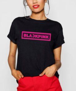 T-shirt Blackpink Logo Rose