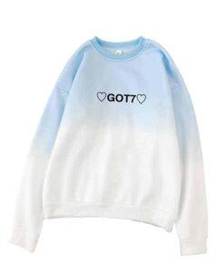 Pull GOT7 dégradé bleu Kpop
